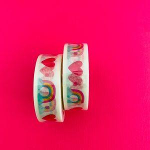Rainbow Heart Washi Tape Cute Stationery